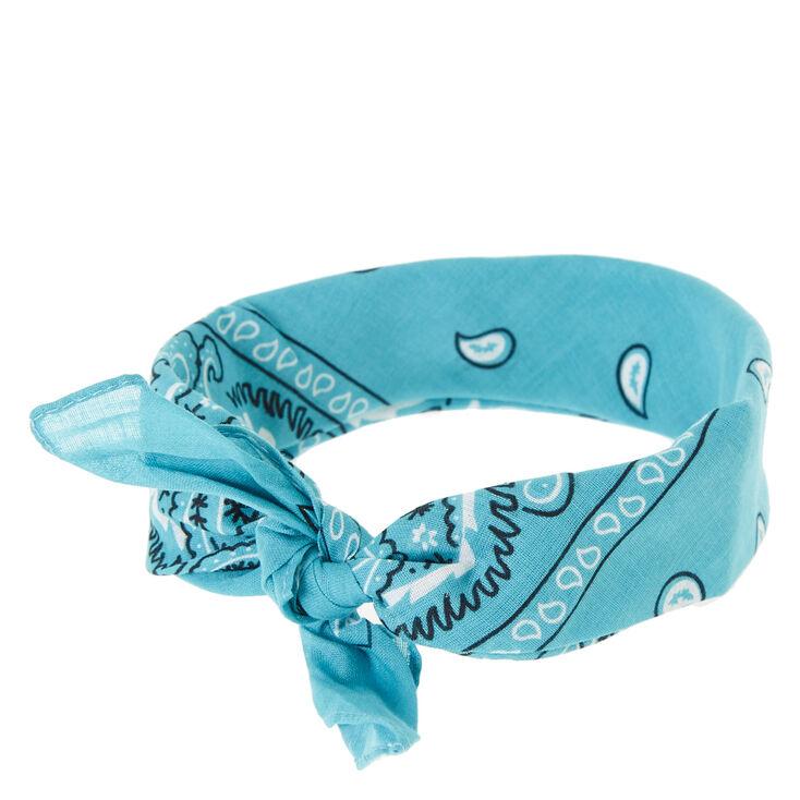 Dark Mint Bandana Head wrap,