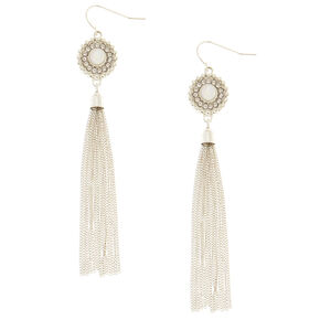 Aria Fringe Drop Earrings,