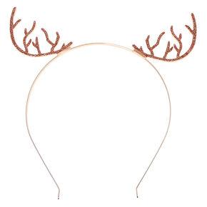 Rose Gold-Tone Antler Headband,