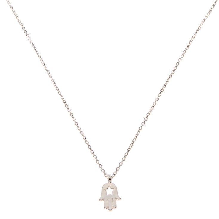 Hamsa Charm Necklace,