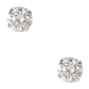 925mm Sterling Silver Cubic Zirconia Crystal Studs,