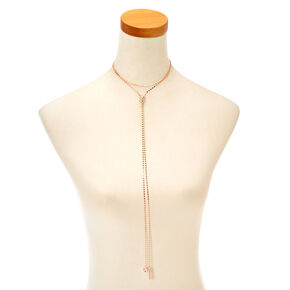 Gold-Tone Multi-Strand Long Necklace,
