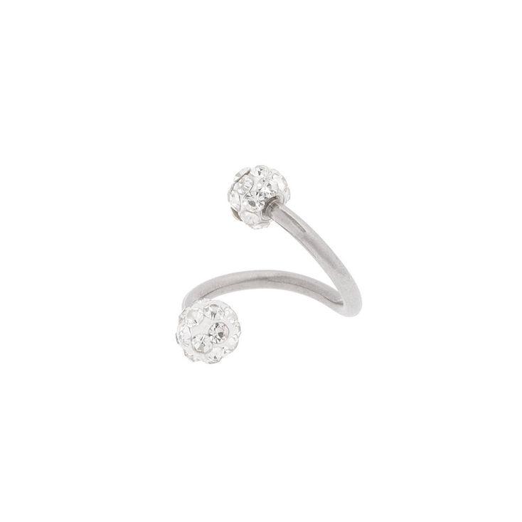 16G Crystal Fireball Swirled Tragus Hoop Earring,