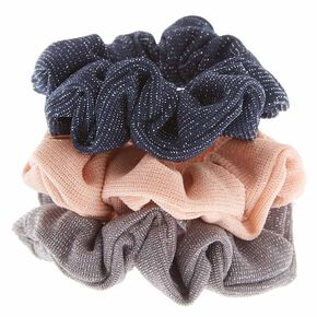 Silver Tinsel Hair Scrunchies,