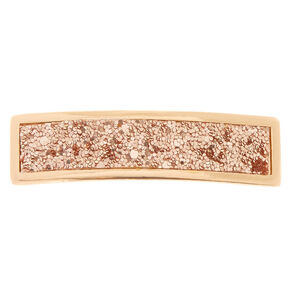 Rose Gold-Tone Bar Barrette,