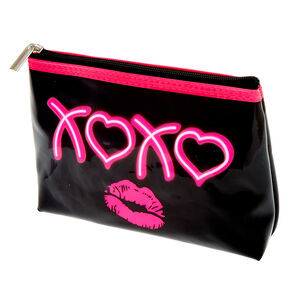 Neon XOXO Cosmetic Bag,