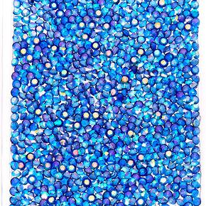 Blue Crushed Crystal Phone Case,