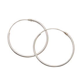 925mm Sterling Silver Endless Loop Earrings,