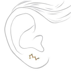 Gold Tone Constellation Ear Crawler,