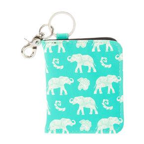 Elephant ID Card Holder Key Ring,