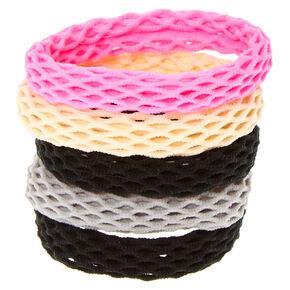 Neutral Pink Fishnet Hair Ties,