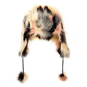 Chanelle Faux Fur Trapper Ski Hat,