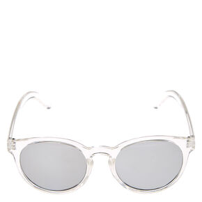 Clear Cat Eye Mirrored Sunglasses,