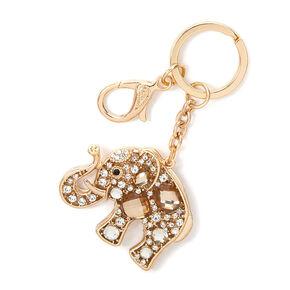 Crystal Gems Elephant Key Ring,