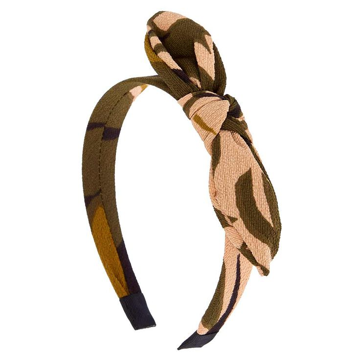 Camo Chiffon Knotted Headband,