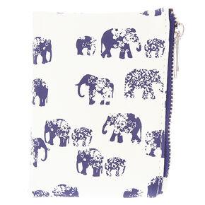 Navy Elephant Boho Wallet,