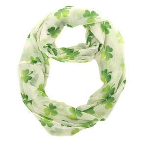 St. Patrick's Day White Shamrock Scarf,