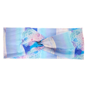 Watercolor Mandala Wide Jersey Headwrap,