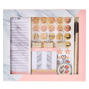 Marble Print Stationery Set,
