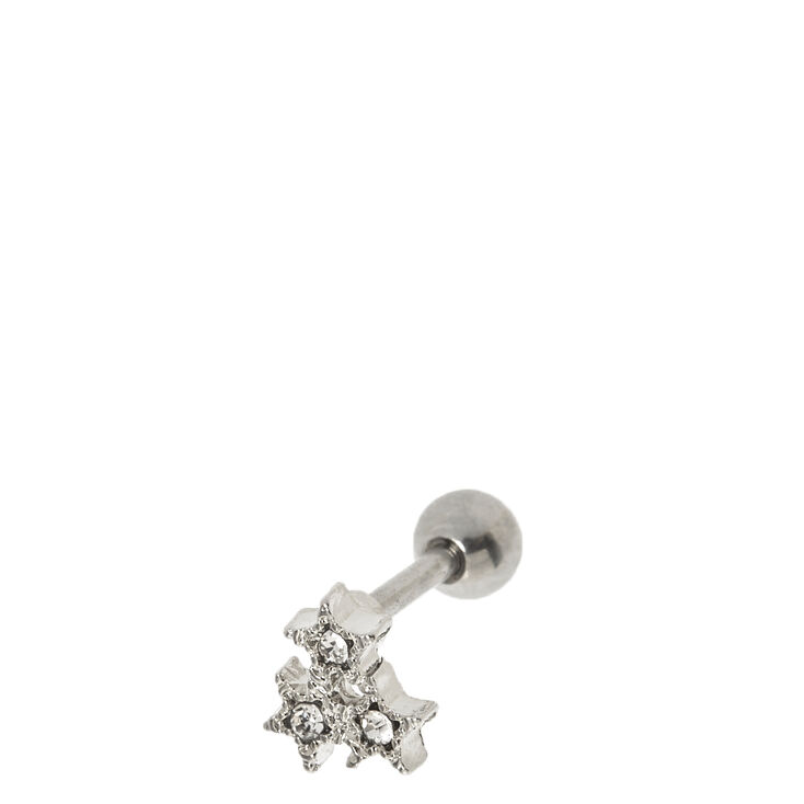 Triangle Star Cluster Tragus Stud,