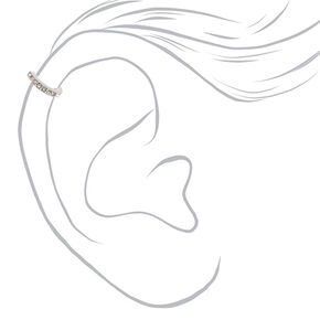 Silver Eternity Crystal Cartilage Earring,
