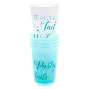 5-Pack Mermaid Phrase Drinking Cups,