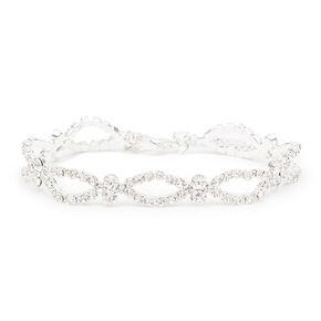 Silver Rhinestone Marquis Chain Bracelet,