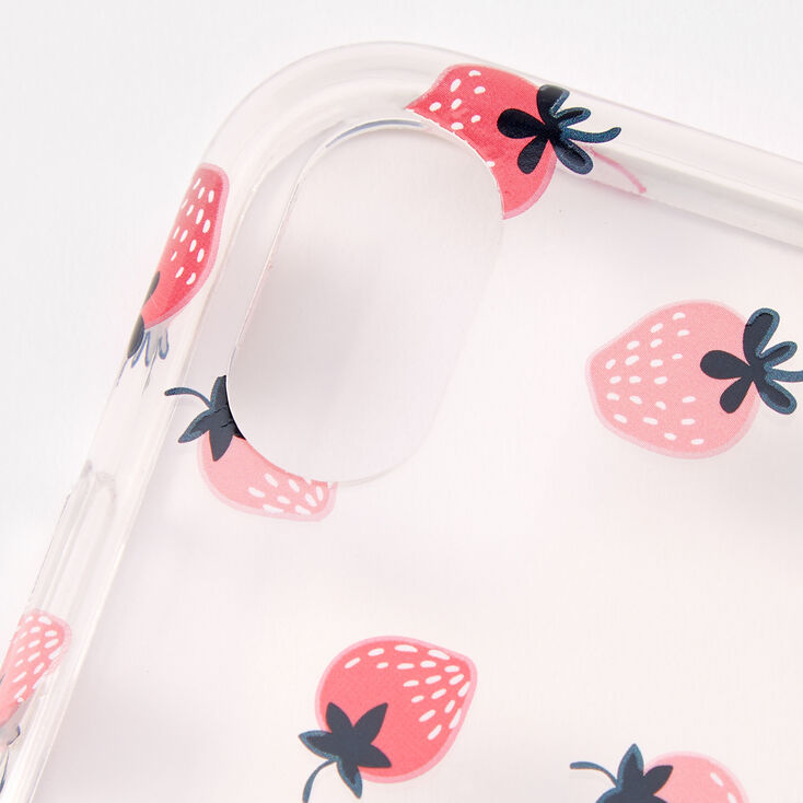 Strawberry Ring Holder Protective Phone Case - Fits iPhone XR,