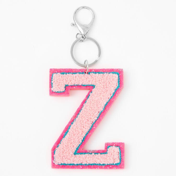 Pink Varsity Initial Keychain - Z,