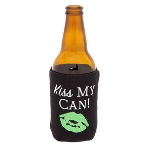 Black Kiss My Can Drink Koozie,