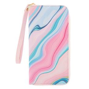 Pastel Marble Wristlet - Pink,