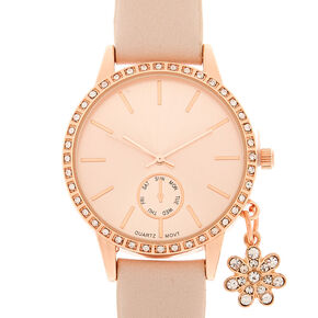 Rose Gold Charm Classic Watch,