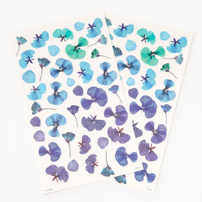 Dried Daisy Temporary Tattoos - Blue,