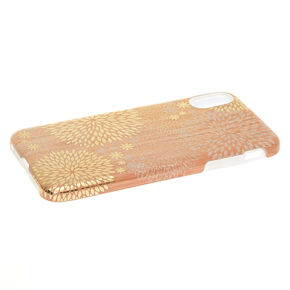 Wood Glitter Burst Protective Phone Case - Fits iPhone XS Max,