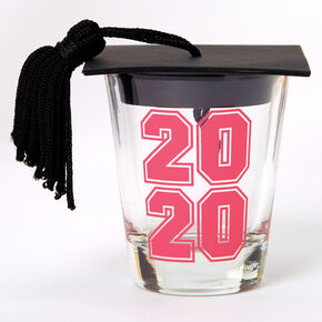 2020 Graduation Cap Shot Glass - Clear,