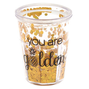 You Are Golden Pineapple Shot Glass - Gold,