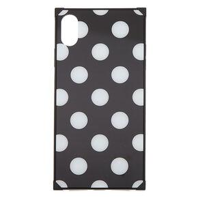 Black Polka Dot Phone Case - Fits iPhone XS Max,
