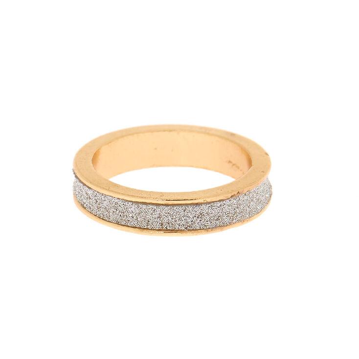 Gold Glitter Ring - Silver,