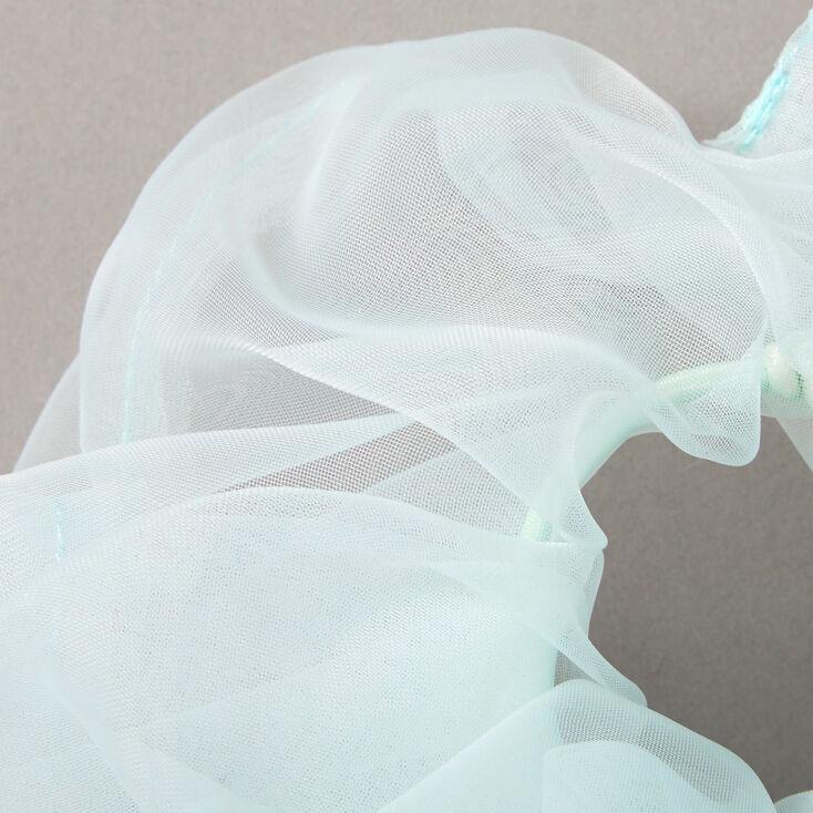 Giant Organza Hair Scrunchie - Mint,