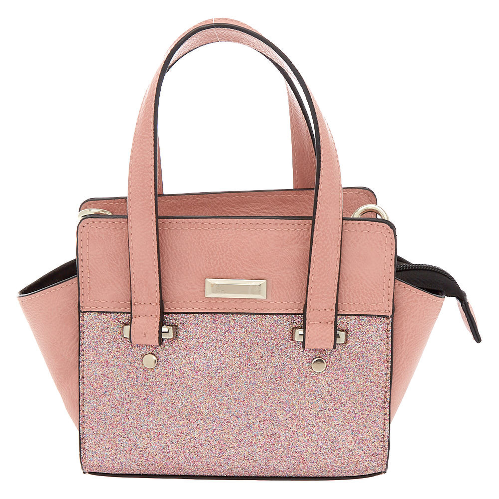4a2d9f812452b Glitter Mini Satchel Crossbody Bag - Pink