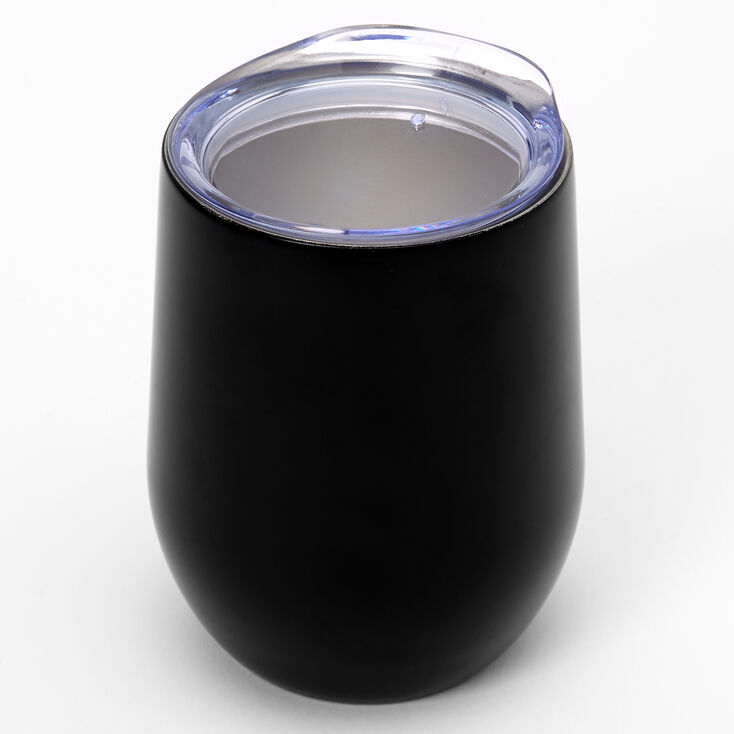 Personalized Wine Tumbler - Black,
