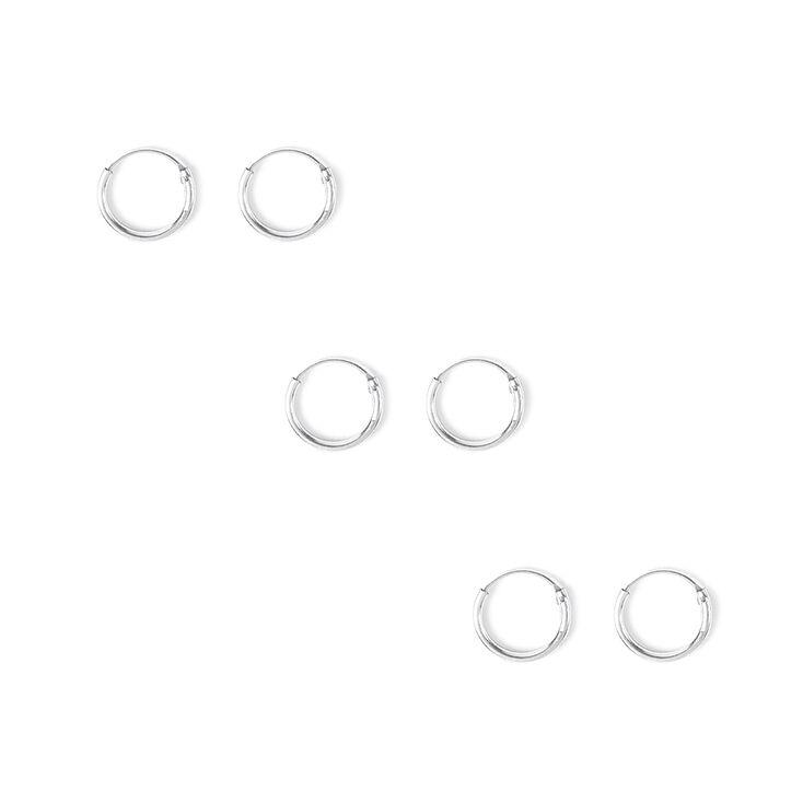 10MM Hoop Earrings  - 3 Pack,