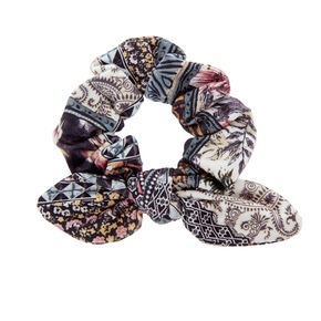 Stained Glass Knotted Bow Hair Scrunchie,