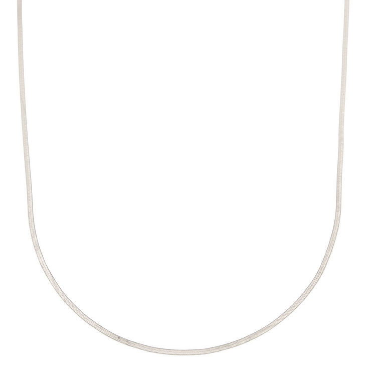 Silver Simple Sleek Statement Necklace,