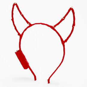 Light Up Devil Horns Headband - Red,