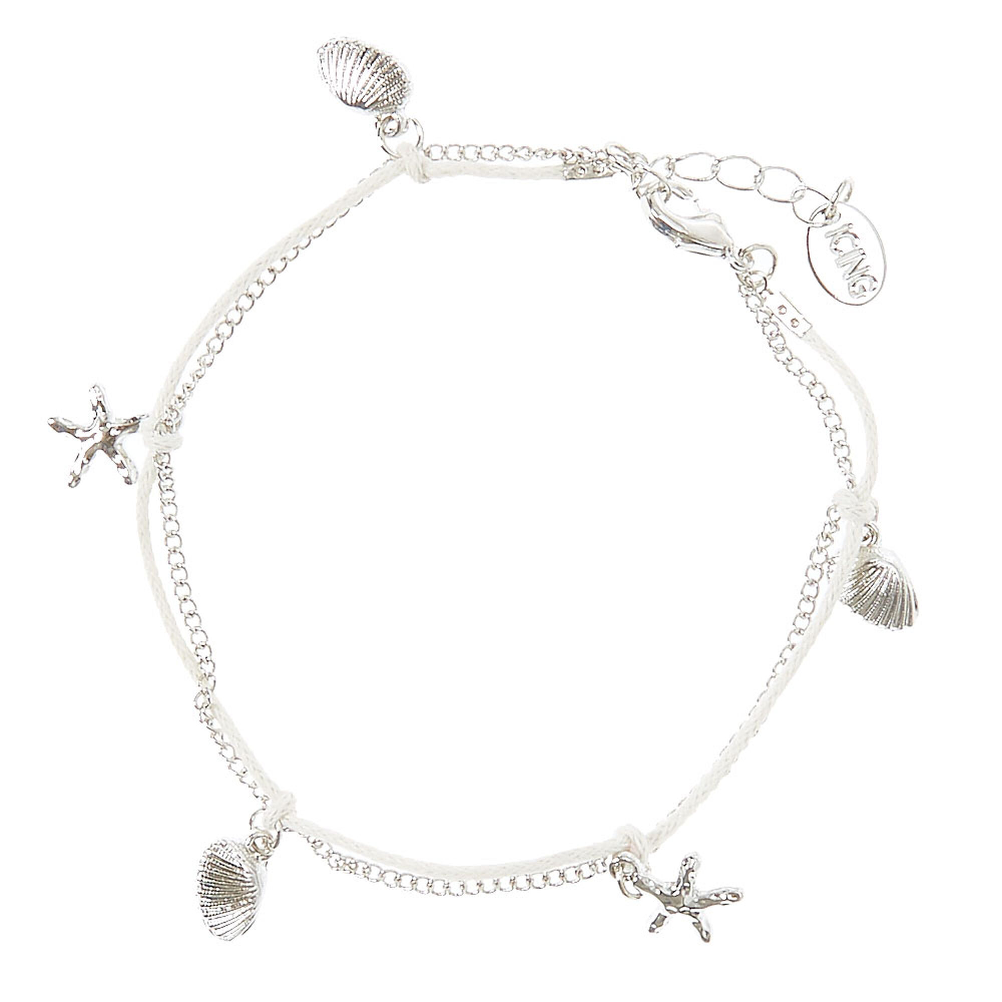 s silver chain anklet claire us out buy stars tone cut