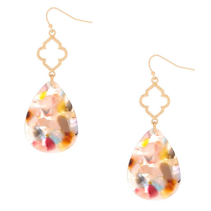 """2.5"""" Resin Painted Mod Drop Earrings,"""