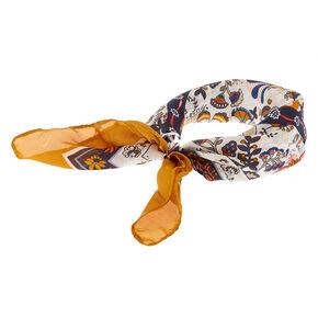 Paisley Print Headwrap - Yellow,