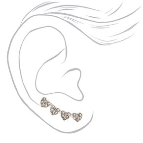 Faux Crystal Hearts Ear Crawlers,