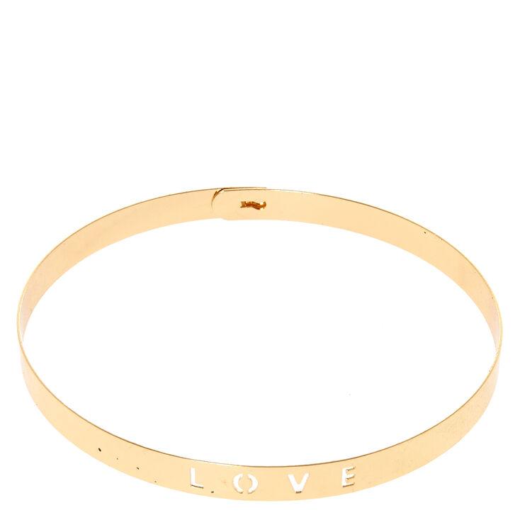 Gold-Tone LOVE Cutout Choker Necklace,